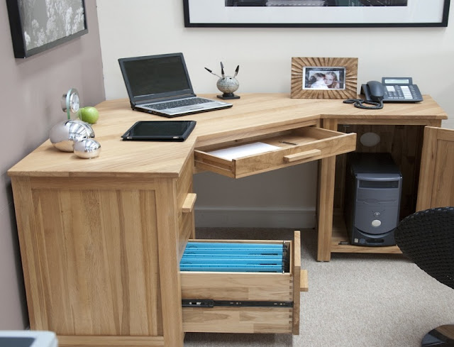 best buy solid oak home office furniture with storage for sale