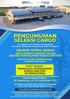 AP I Buka Seleksi Mitra Pengelola Kargo dan Pos di Bandara Juanda dan I. Gusti Ngurah Rai