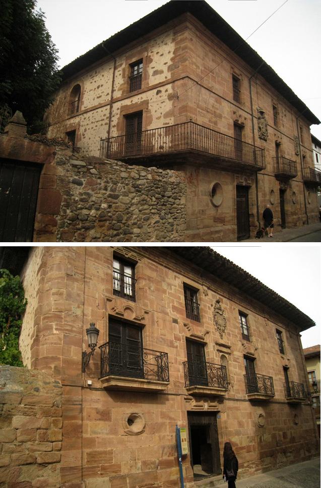 El Palacio del Arzobispo de Berroeta (arriba) y el Palacio Ángel (abajo)