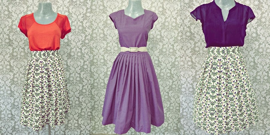 vestido lilás vintage