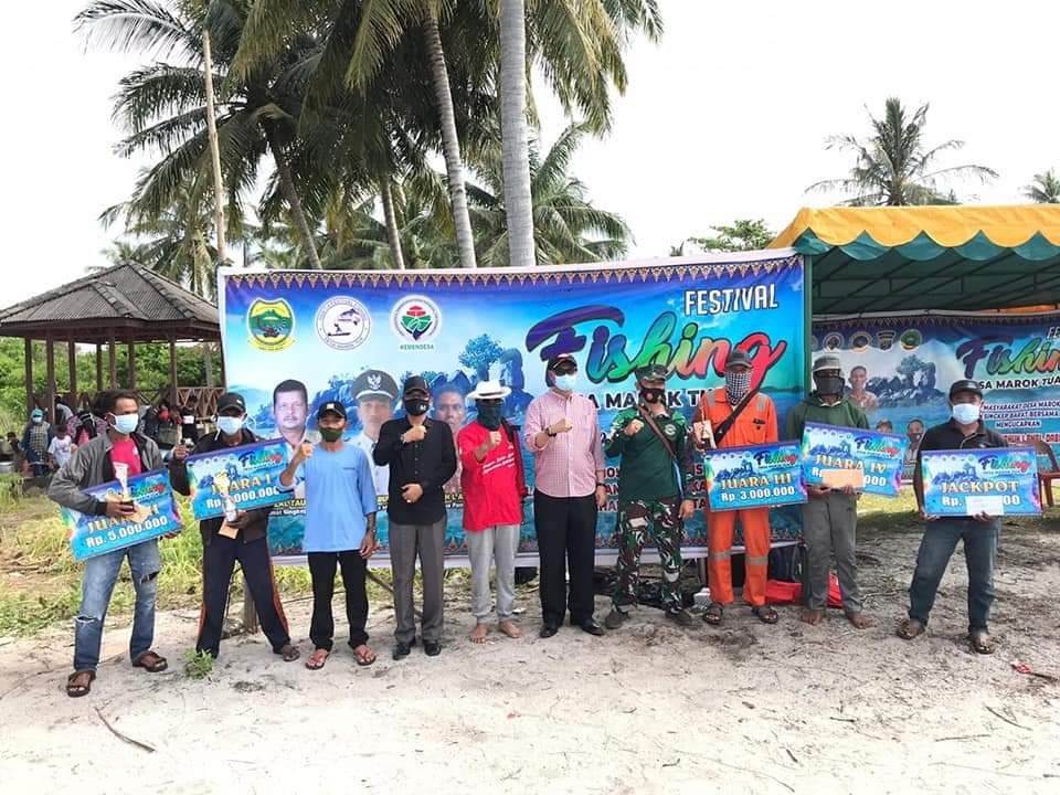 Pjs Bupati Lingga Menutu Festival Fishing di Pulau Serak Marok Tua