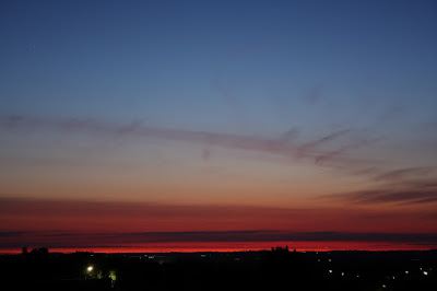 colourful sky to the north-east