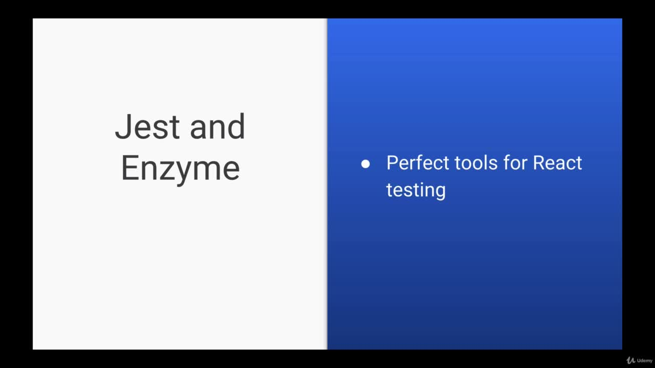 On EducationReact Testing with Jest and Enzyme | Online