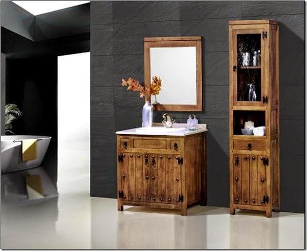 Modelos de muebles r sticos para el cuarto de ba o ba os y muebles - Muebles rusticos bano ...