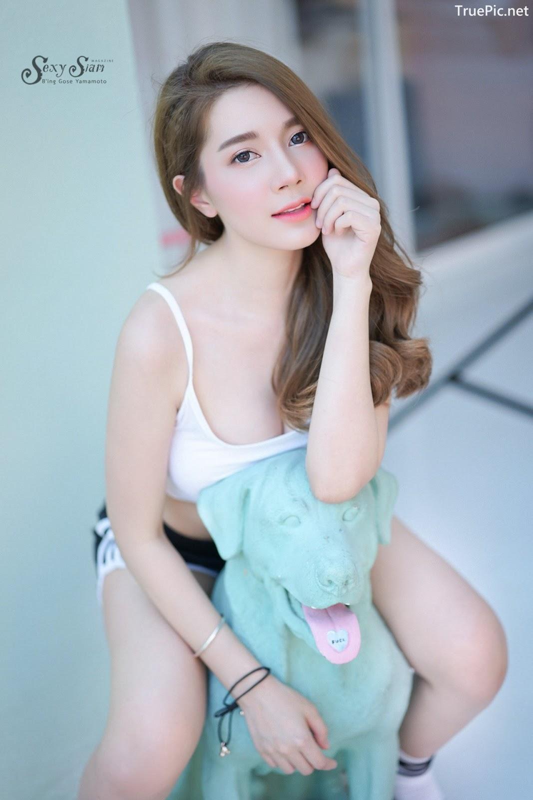 Image Thailand Model - Sasipa Tungmay Jibkrapong - White Crop Top - TruePic.net - Picture-1