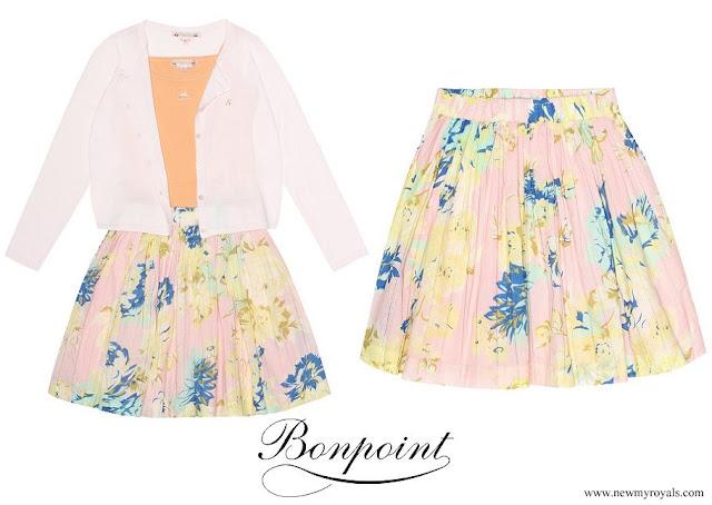 Princess Estelle wore BONPOINT Suzon printed cotton skirt