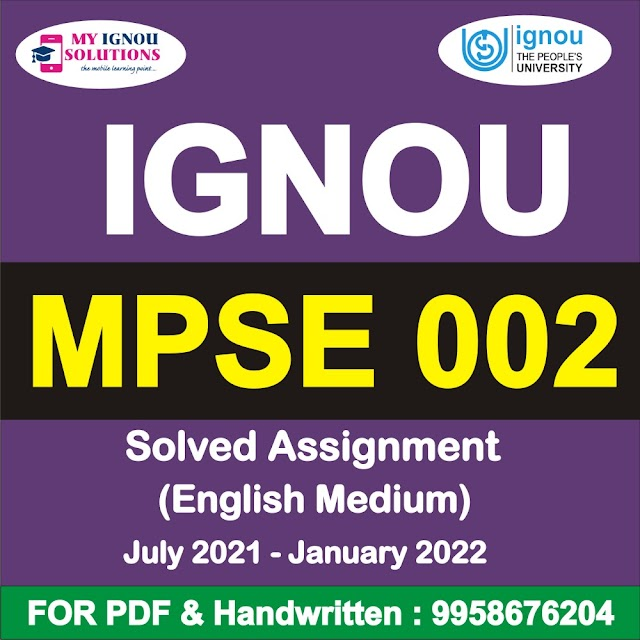 MPSE 002 Solved Assignment 2021-22