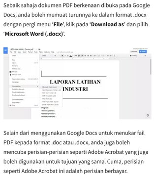 cara tukar fail pdf to word
