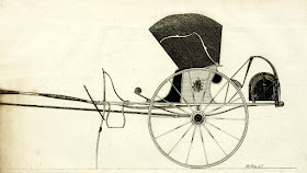 Fixed or proper curricle  from A Treatise on carriages by W Felton (1796)