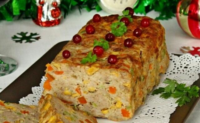 Мясной хлеб  Конфетти картинка