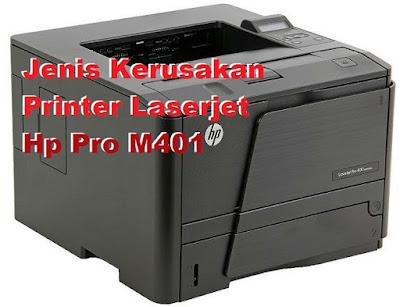 Kerusakan yang Sering Terjadi Pada Printer  Hp Laserjet Pro400 M401n