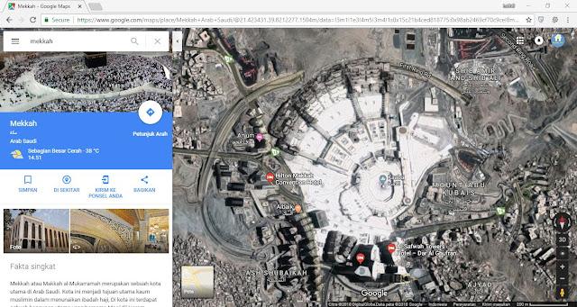 Tampilan awal pengukuran lahan dengan google maps
