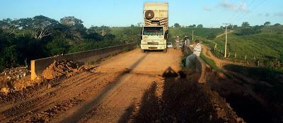 Governo do Estado recupera ponte sobre o Riacho Conceição, em Nossa Senhora Aparecida