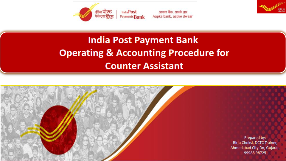 Training Material of IPPB Counter Operations