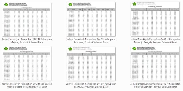 Kumpulan Jadwal Imsakiyah Ramadhan 1442 H Seluruh Kabupaten di Provinsi Sulawesi Barat
