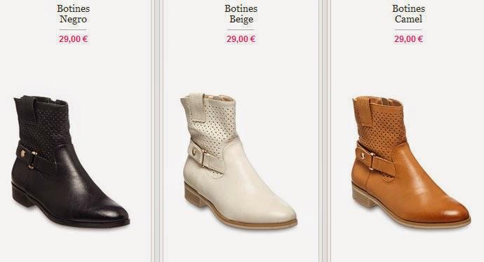 Tres ejemeplos de botines para mujer por menos de 30 euros