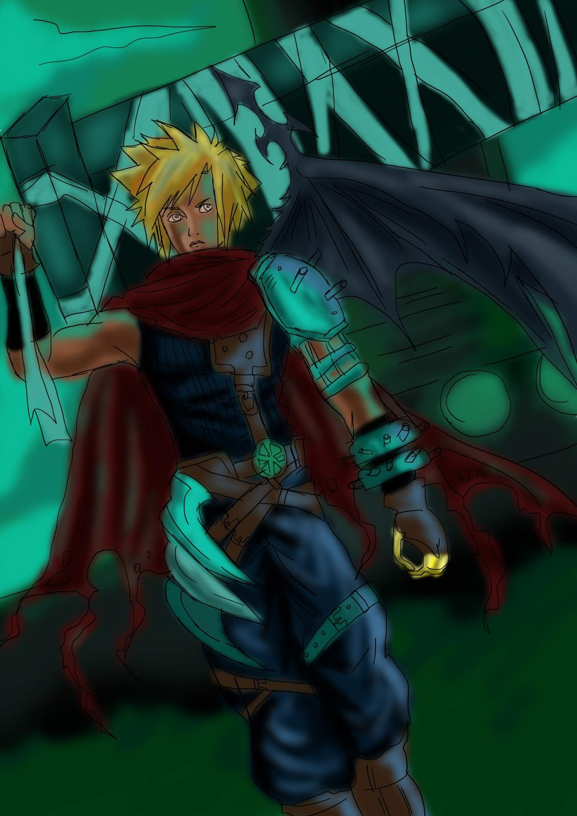 Tiras Do Vira Lata Fanart Cloud Strife Final Fantasy Vii