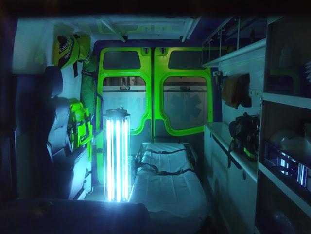 COVID19. Bombeiros de Carcavelos e S. Domingos com dispositivo ultramoderno de desinfeção sem agentes químicos