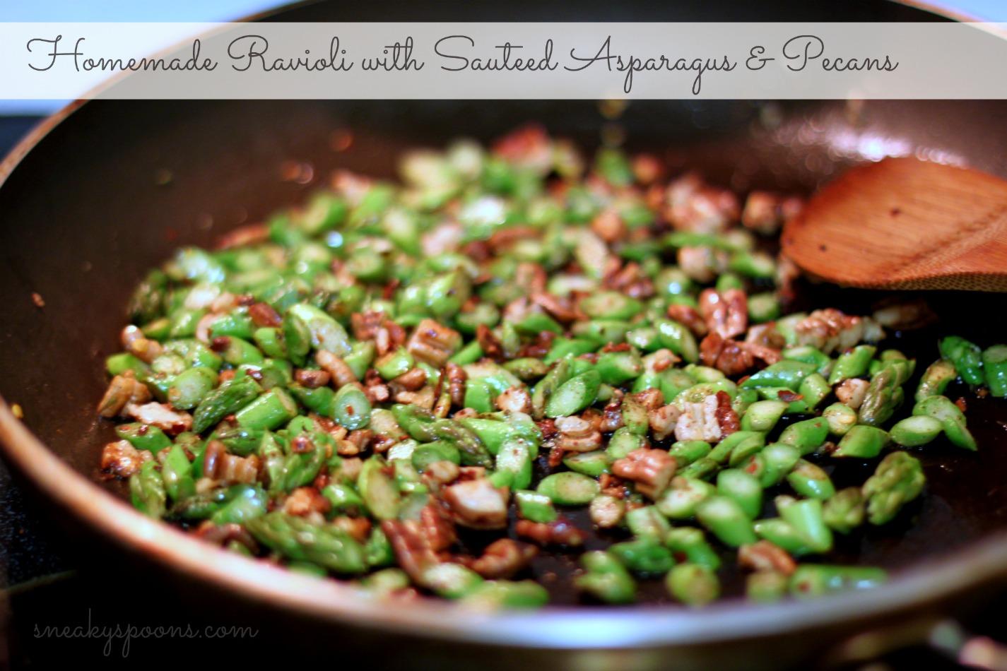 Sauteed Asparagus & Pecans
