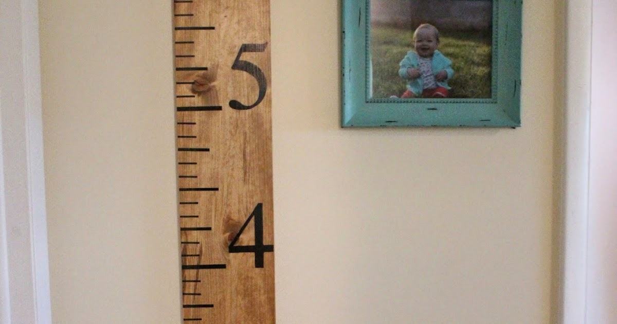 Mommy Vignettes Wood Growth Chart Tutorial