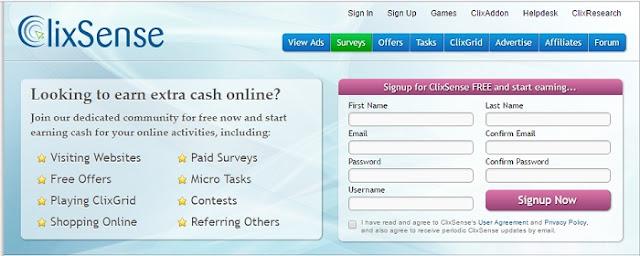 Clixsense, le Paid to click qui propose des sondages rémunérés