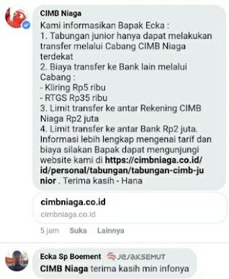 limit transfer cimb niaga junior