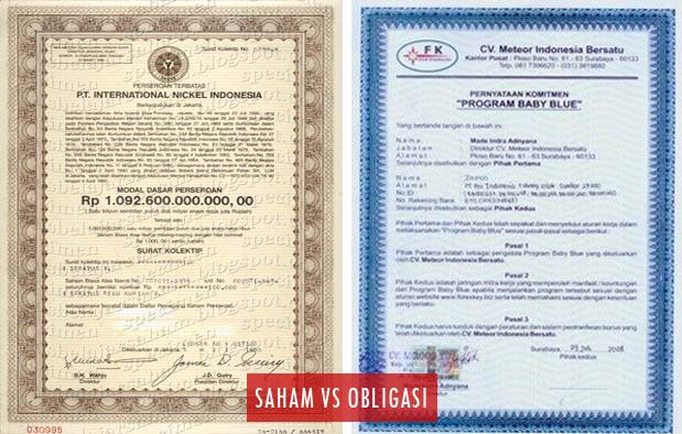 Perbedaan Saham dan Obligasi