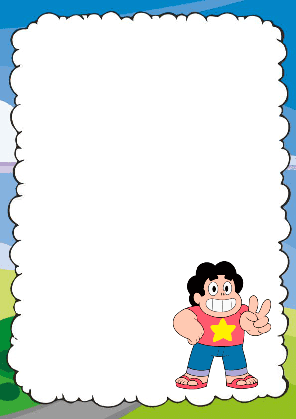 Genial caratula para cuaderno de Steven Universe