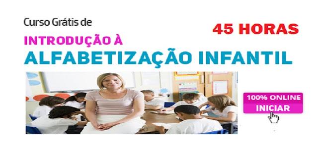 Curso grátis de Introdução à Alfabetização Infantil