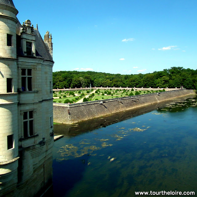 View from Chateau de Chenonceau. Indre et Loire. France. Photo by Loire Valley Time Travel.