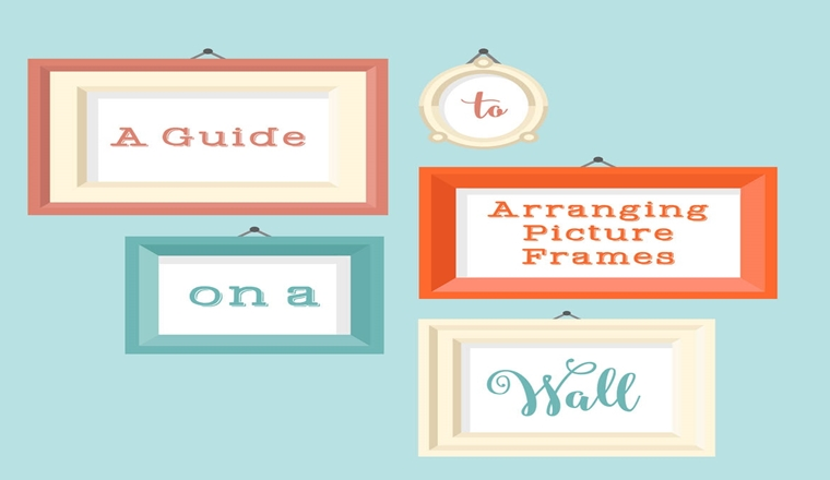 A Guide To Arranging Picture Frames On A Wall #Infographic