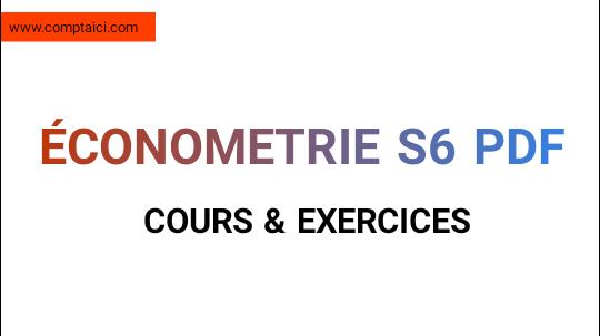 économétrie S6 Cours et exercices