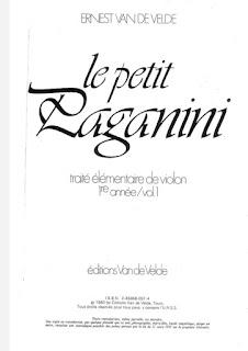 كتاب باغانيني Paganini الصغير الجزء الأول pdf لتعليم الة الكمان