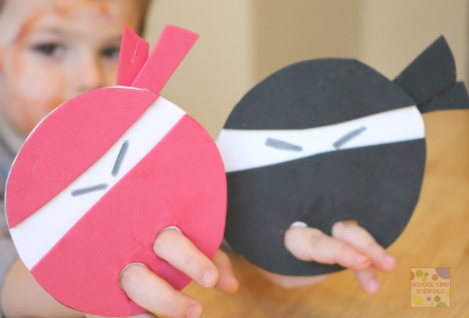 preschool ninja craft