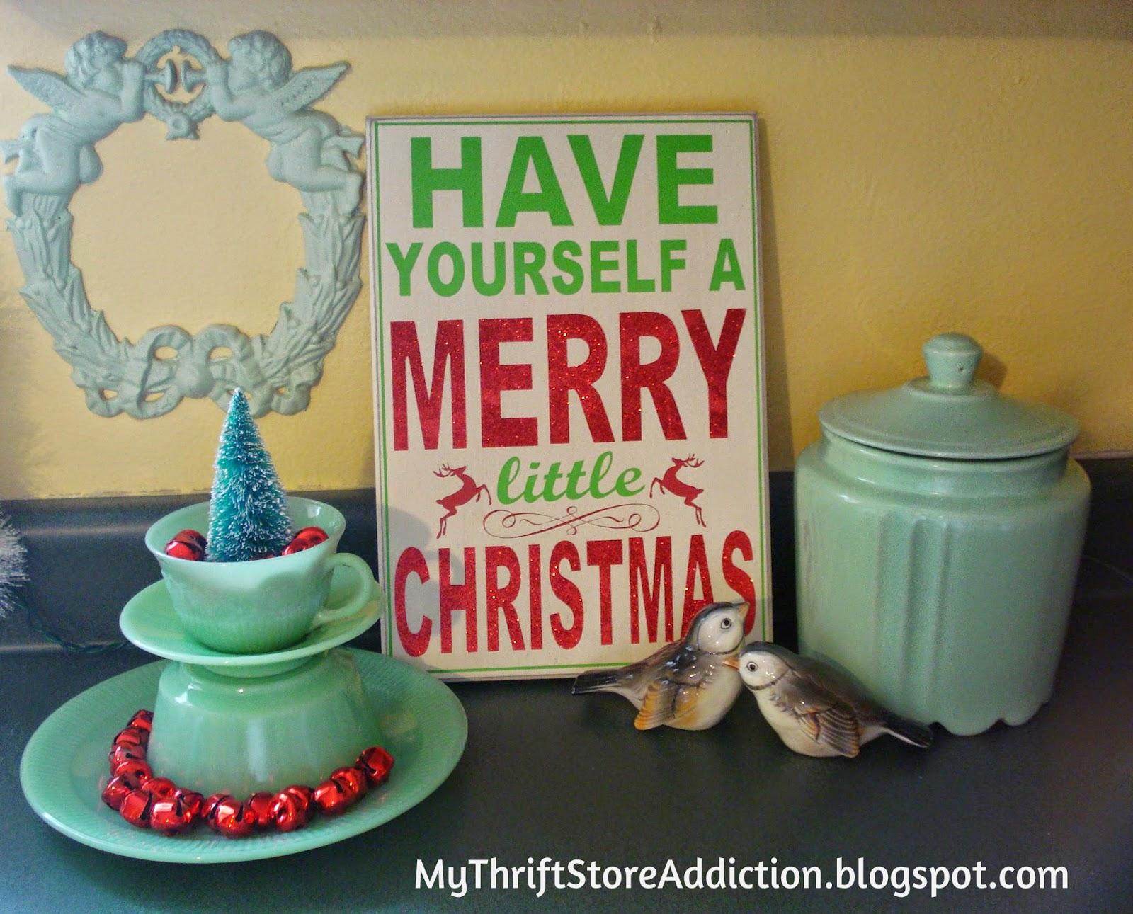 Vintage Jadeite Christmas decor