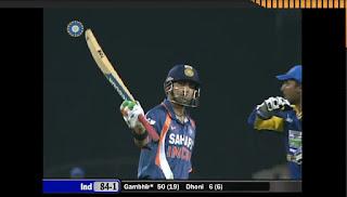 Gautam Gambhir Fastest T20I Fifty Highlights