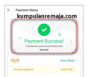 Voucher pulsa 25.000 dari Aplikasi dana