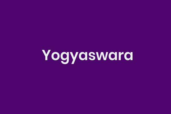 Yogyaswara, Bahawa Jawa, Tembung