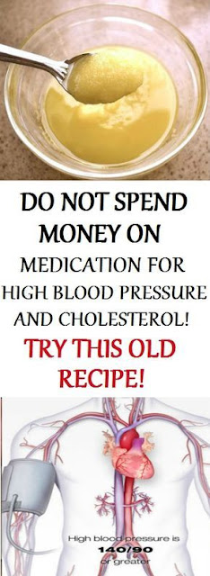 DO NOT SPEND MONEY ON MEDICATION FOR HIGH BLOOD PRESSURE AND CHOLESTEROL, TRY THIS OLD RECIPE