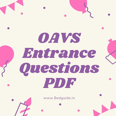 OAVS Previous Year Question Papers PDF (All Subjects)