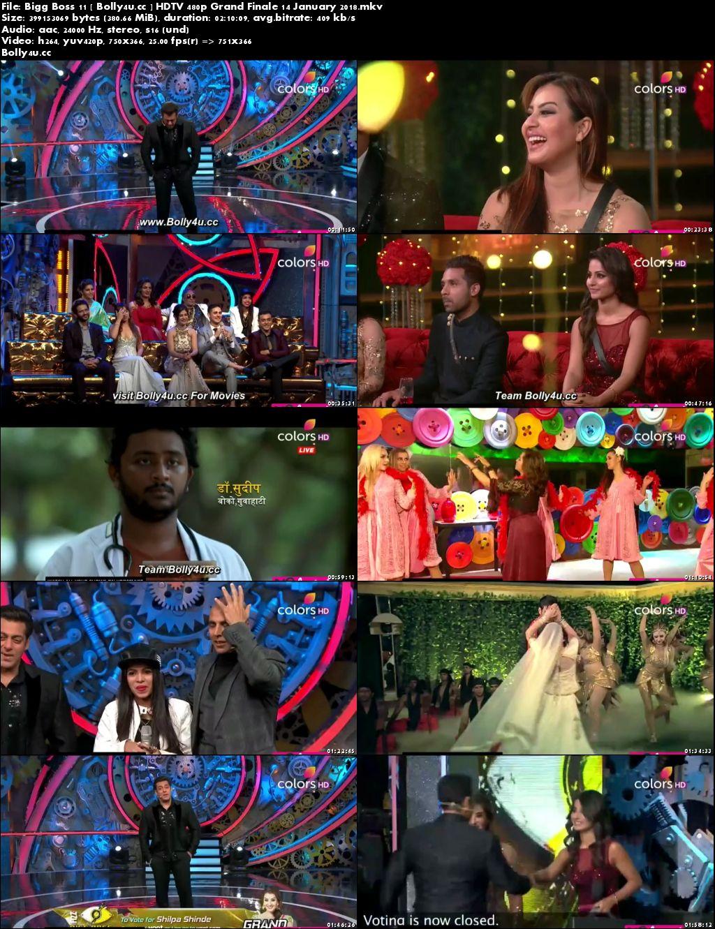 Bigg Boss S11E106 HDTV 350MB 480p Grand Finale 14 January 2018 Download