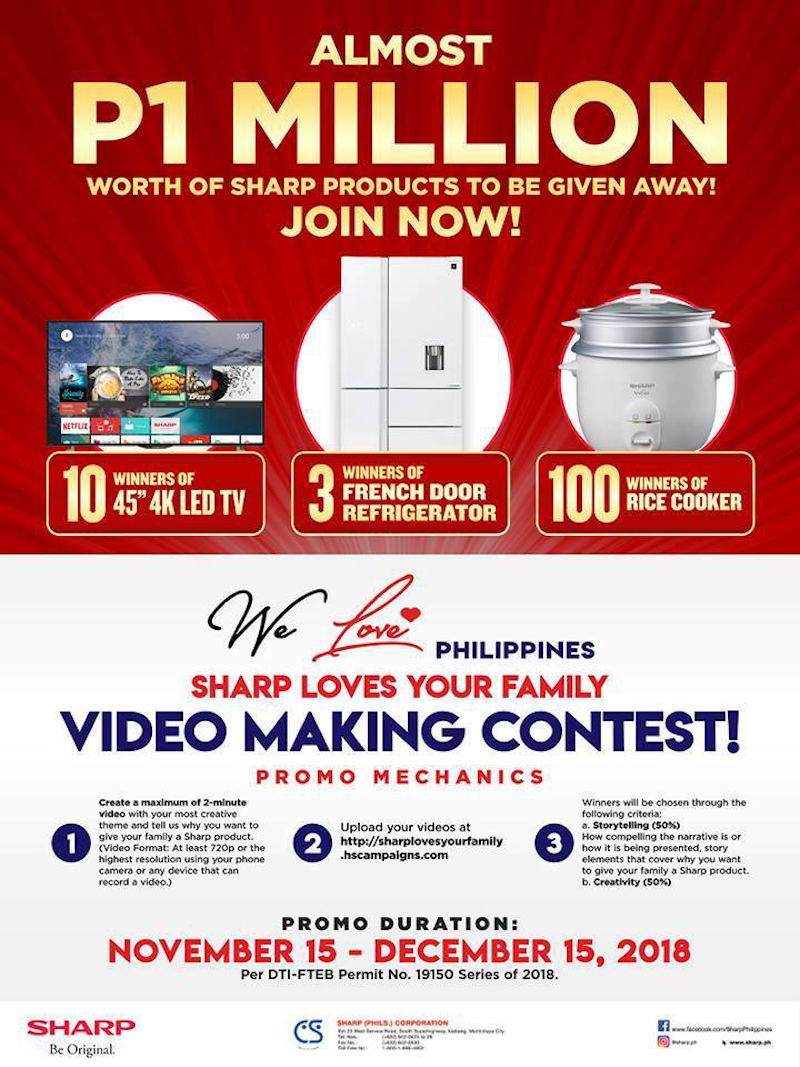 Sharp Loves Your Family video making contest