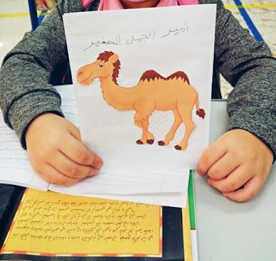 Katia, kolezanka z klasy, napisala wypracowanie o wielbladzie o imieniu Amir.