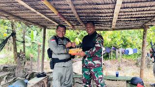 Kapolda Sulteng rayakan Ulang tahun Ke 52 Danrem 132 Tadulako di Pos Operasi Madago Raya
