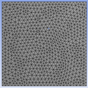 Unstructured tetrahedral mesh