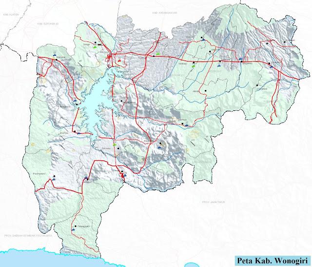 Peta Kabupaten Wonogiri HD