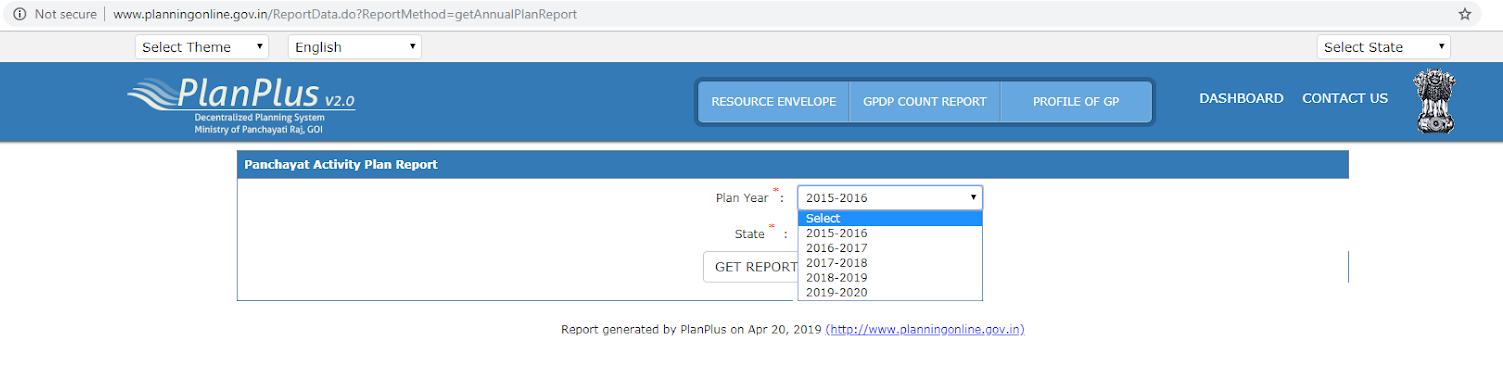Gram panchayat report