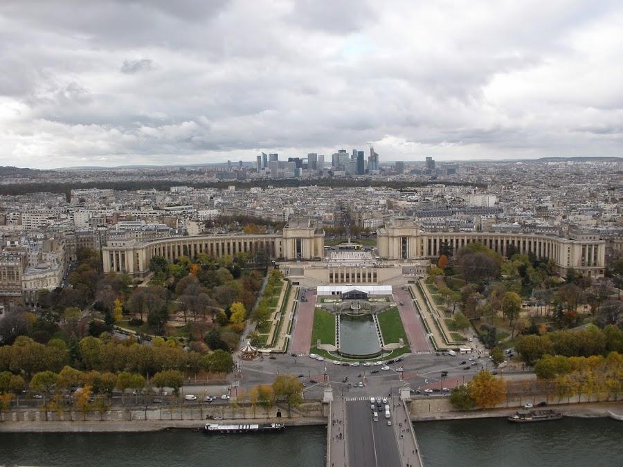Vista de París desde la Torre Eiffel.