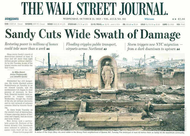 "Capa ""The Wall Street Journal"" 31/10/2012"