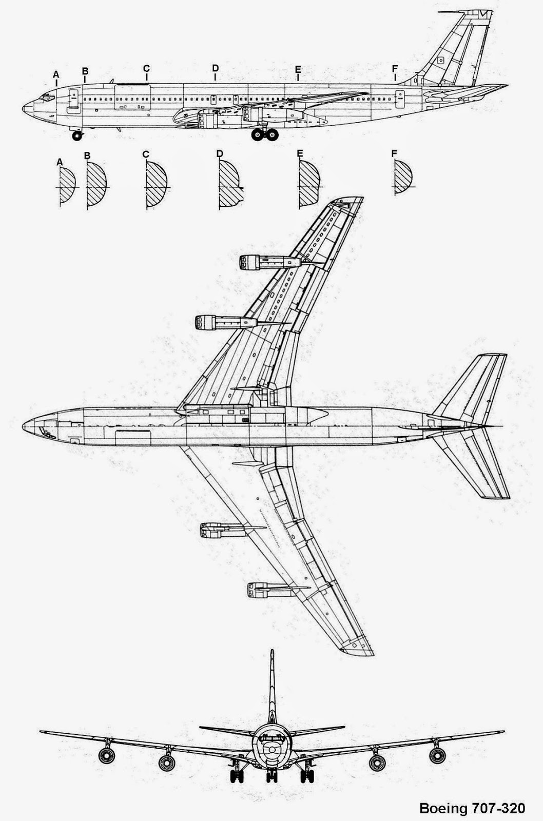 airplane scale modelkit  boeing 707